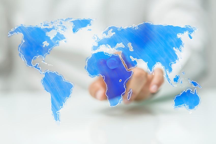 Digitale Weltkarte