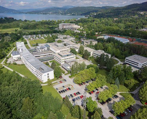 Luftbild der Universität Klagenfurt