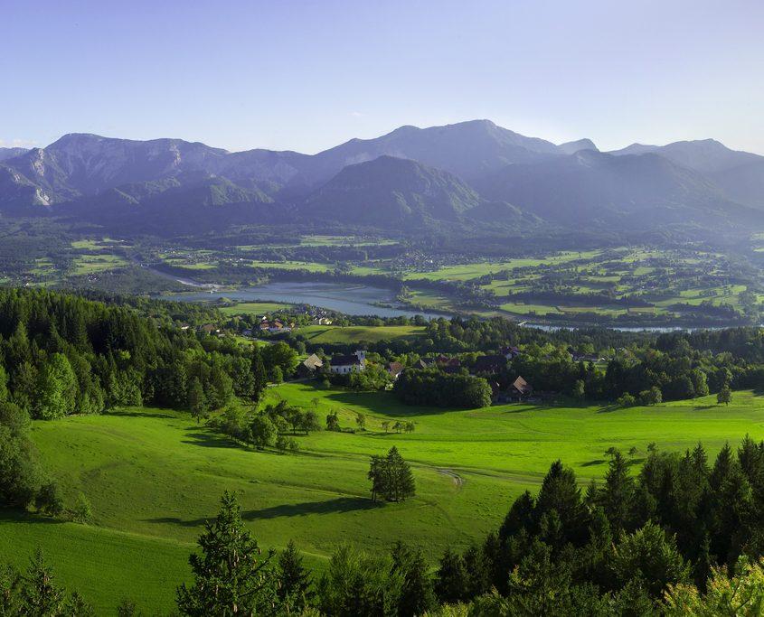 Landschaftsbild Rosental Wörthersee Tourismus