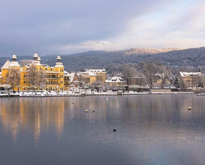 Velden am Wörthersee im Winter