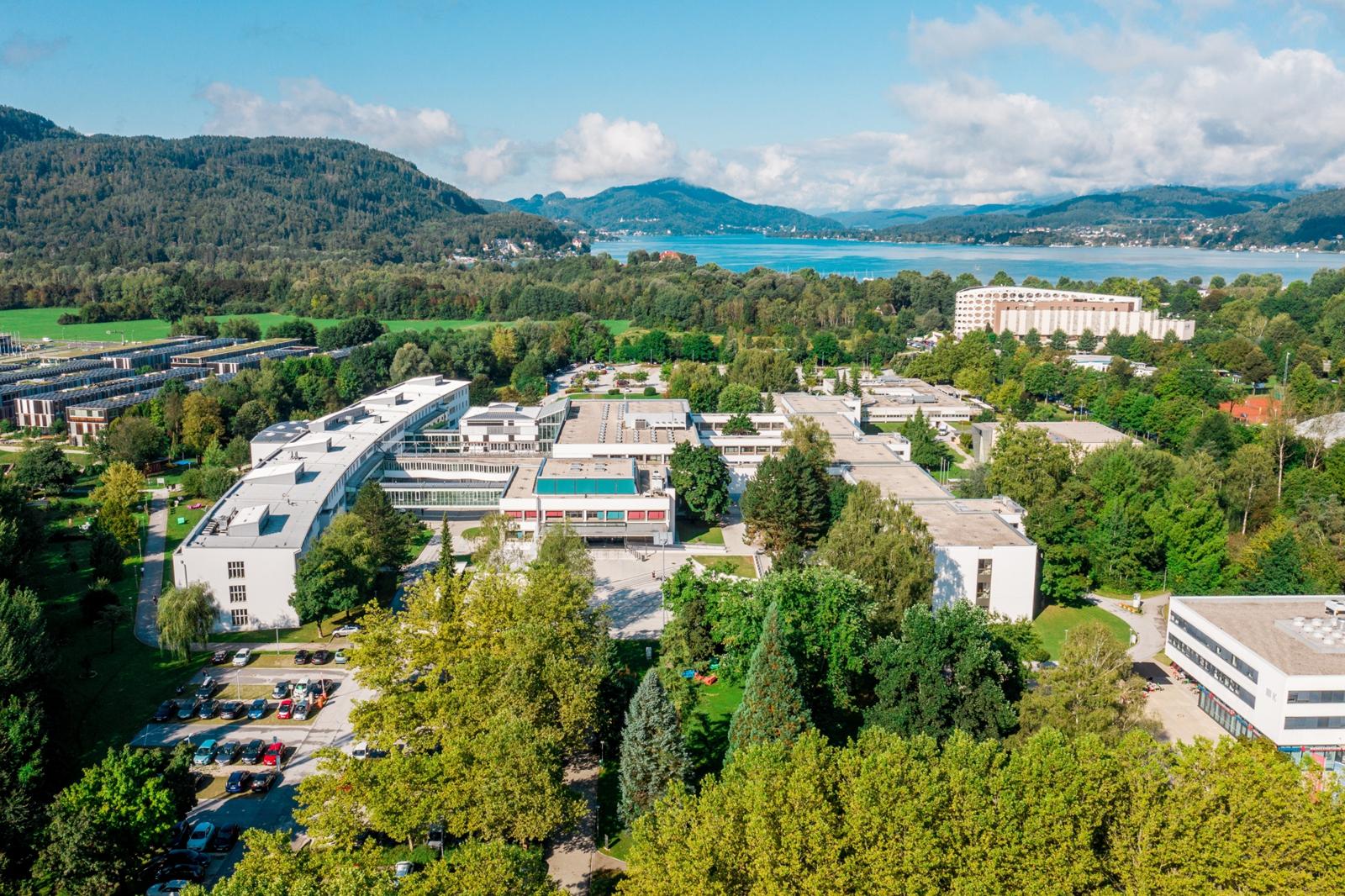 Luftbild der Universität Klagenfurt 2019